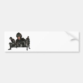 Pegatina para el parachoques medieval del guerrero pegatina de parachoque