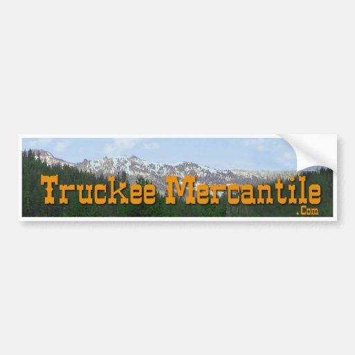 Pegatina para el parachoques mercantil de Truckee Pegatina Para Auto