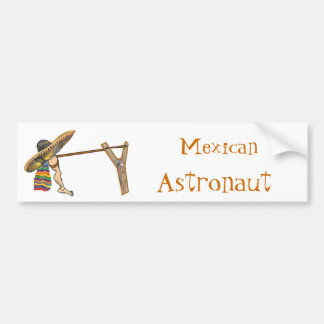 Pegatina para el parachoques mexicana del astronau pegatina para auto
