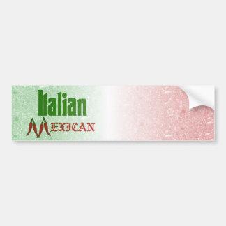 Pegatina para el parachoques mexicana italiana pegatina de parachoque