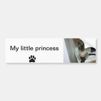 Pegatina para el parachoques mi pequeña princesa pegatina para auto