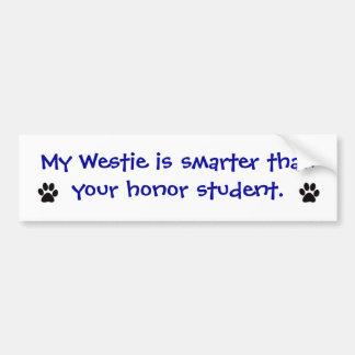 Pegatina para el parachoques - mi Westie es más el Pegatina Para Auto