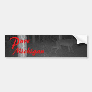 Pegatina para el parachoques Michigan puro Dogman  Pegatina De Parachoque