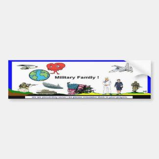 Pegatina para el parachoques militar de la familia etiqueta de parachoque