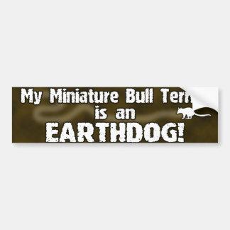 Pegatina para el parachoques miniatura de bull ter etiqueta de parachoque