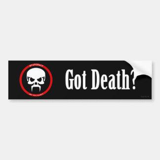 Pegatina para el parachoques: ¿Muerte conseguida? Pegatina Para Auto