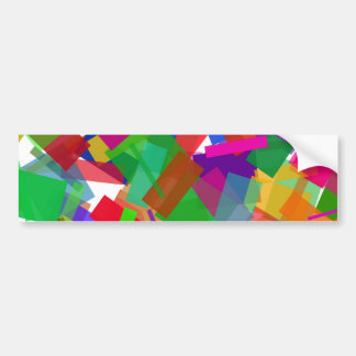 Pegatina para el parachoques multicolora del confe pegatina para auto