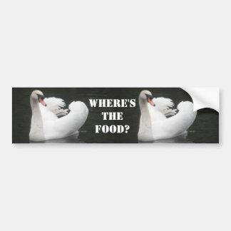Pegatina para el parachoques, natación del cisne etiqueta de parachoque