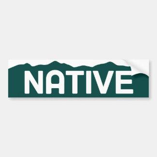 Pegatina para el parachoques nativa de Colorado Pegatina Para Auto