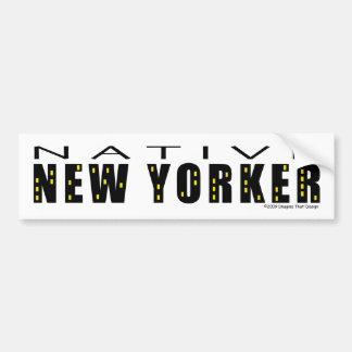 Pegatina para el parachoques nativa del neoyorquin pegatina de parachoque