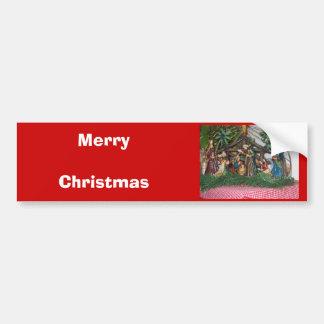 Pegatina para el parachoques/navidad/natividad etiqueta de parachoque