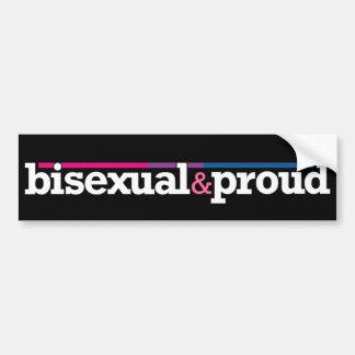 Pegatina para el parachoques negra de Bisexual&pro Pegatina Para Auto