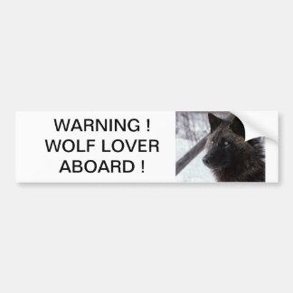 Pegatina para el parachoques negra del lobo etiqueta de parachoque