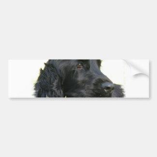 Pegatina para el parachoques negra del perro de co pegatina de parachoque