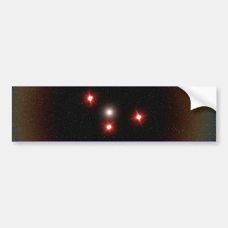 Pegatina para el parachoques negra del UFO del tri Pegatina De Parachoque