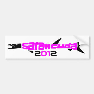 Pegatina para el parachoques negra rosada de Sarah Pegatina Para Auto