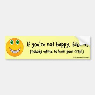 … Pegatina para el parachoques no feliz Etiqueta De Parachoque