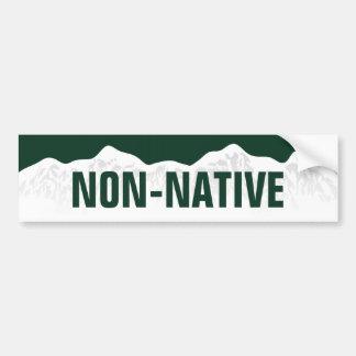 Pegatina para el parachoques no nativa de Colorado Pegatina Para Auto