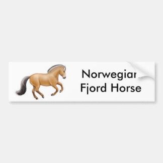 Pegatina para el parachoques noruega del caballo d pegatina de parachoque