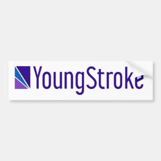 Pegatina para el parachoques oficial de YoungStrok Pegatina Para Auto