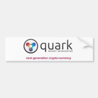 Pegatina para el parachoques oficial del Quark
