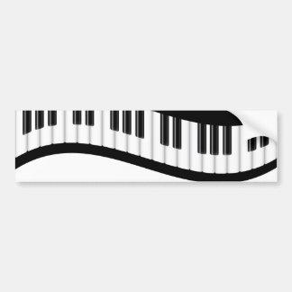 Pegatina para el parachoques ondulada del teclado  pegatina para auto