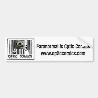 Pegatina para el parachoques óptica de los tebeos etiqueta de parachoque