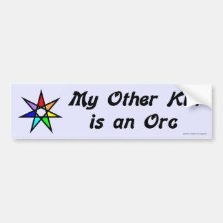 Pegatina para el parachoques - Orc Etiqueta De Parachoque