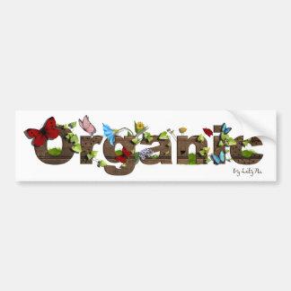 Pegatina para el parachoques orgánica linda. ¡Pien Etiqueta De Parachoque