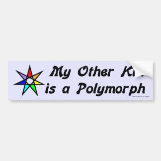 Pegatina para el parachoques - organismo polimorfo etiqueta de parachoque
