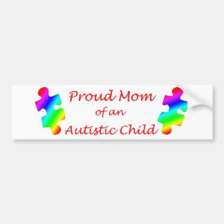 Pegatina para el parachoques orgullosa de la mamá etiqueta de parachoque