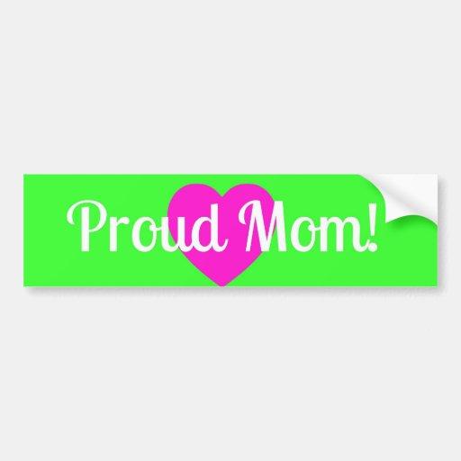 ¡pegatina para el parachoques orgullosa de la mamá etiqueta de parachoque