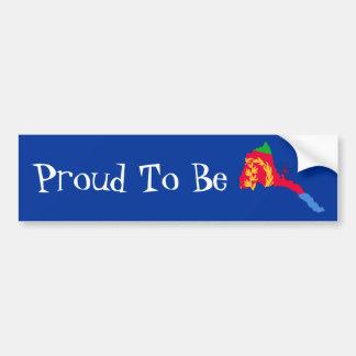 Pegatina para el parachoques orgullosa del Eritrea Pegatina De Parachoque