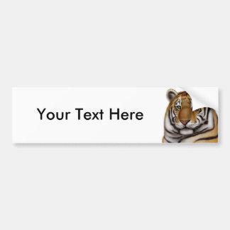 Pegatina para el parachoques orgullosa del tigre d pegatina de parachoque