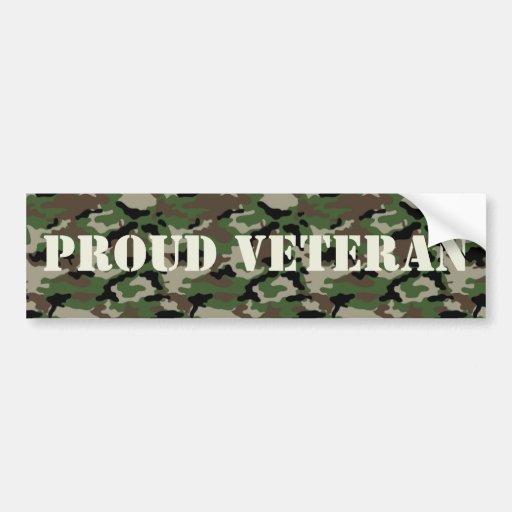 Pegatina para el parachoques orgullosa del veteran pegatina para auto