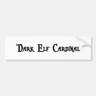 Pegatina para el parachoques oscura del cardenal d etiqueta de parachoque