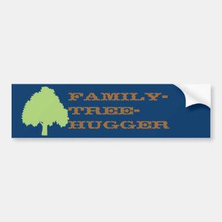 pegatina para el parachoques (oscura) del Familia- Etiqueta De Parachoque