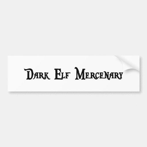 Pegatina para el parachoques oscura del mercenario etiqueta de parachoque