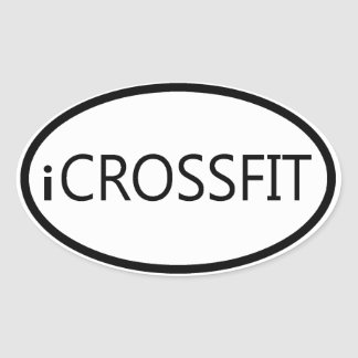 Pegatina para el parachoques oval de Crossfit -