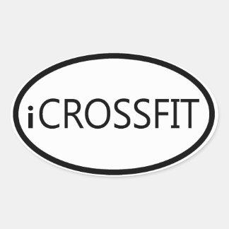 Pegatina para el parachoques oval de Crossfit - iC