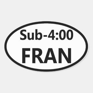Pegatina para el parachoques oval - FRAN del