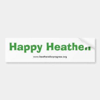 Pegatina para el parachoques pagana feliz - con la pegatina de parachoque
