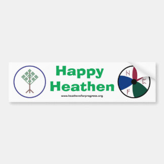 Pegatina para el parachoques pagana feliz de HFP Pegatina Para Auto