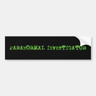 PEGATINA PARA EL PARACHOQUES PARANORMAL DEL INVEST ETIQUETA DE PARACHOQUE