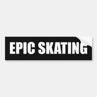Pegatina para el parachoques patinadora épica - le etiqueta de parachoque