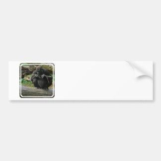 Pegatina para el parachoques pensativa del gorila pegatina de parachoque