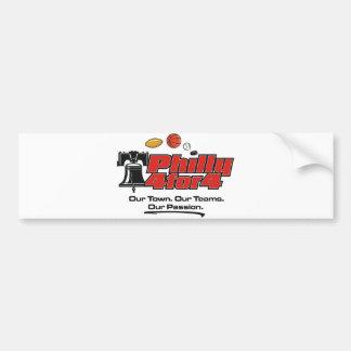 Pegatina para el parachoques - Philly 4 para 4 Pegatina Para Auto