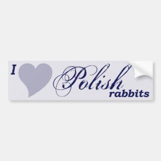 Pegatina para el parachoques polaca de los conejos