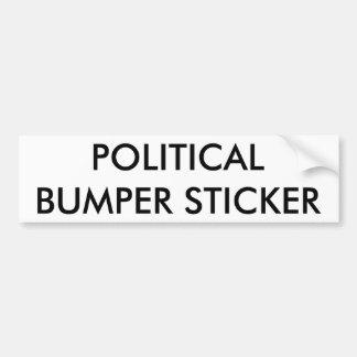 Pegatina para el parachoques política pegatina para auto