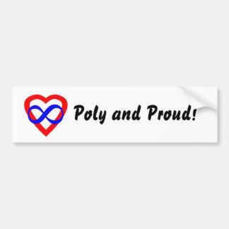 Pegatina para el parachoques polivinílica y orgull etiqueta de parachoque